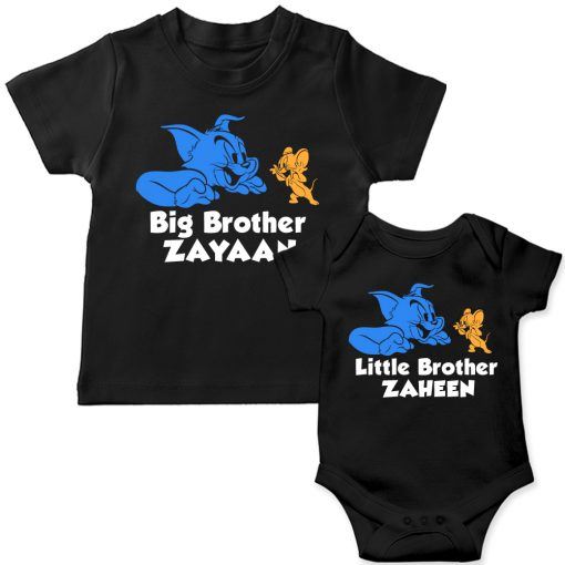 Tom-&-Jerry-Siblings-T-Shirt-Black