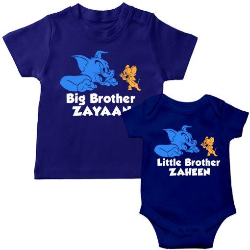 Tom-&-Jerry-Siblings-T-Shirt-Blue