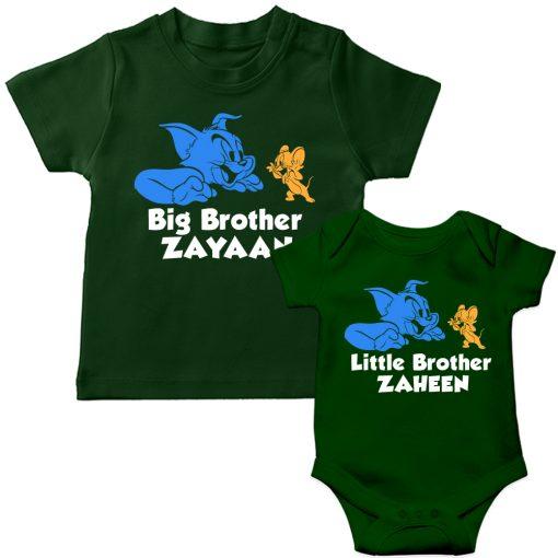 Tom-&-Jerry-Siblings-T-Shirt-Green
