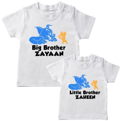 Tom-&-Jerry-Siblings-T-Shirt-T-Shirt-White