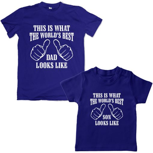 Worlds-Best-Dad-&-Son-Awesome-Combo-T-Shirt-Blue