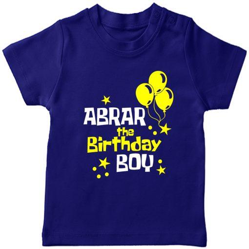 Balloon-Customized-Name-Birthday-T-Shirt-Blue