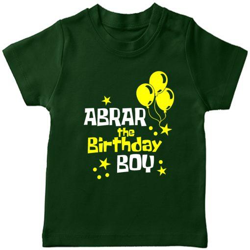 Balloon-Customized-Name-Birthday-T-Shirt-Green