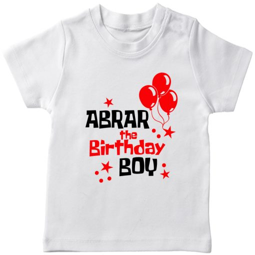Balloon-Customized-Name-Birthday-T-Shirt-White