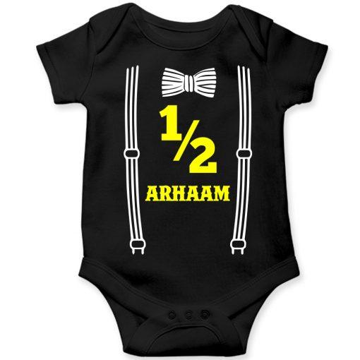 Bow-Birthday-Celebration-Baby-Romper-Black