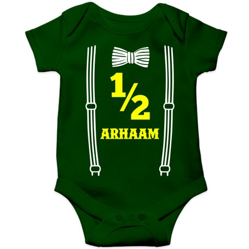 Bow-Birthday-Celebration-Baby-Romper-Green