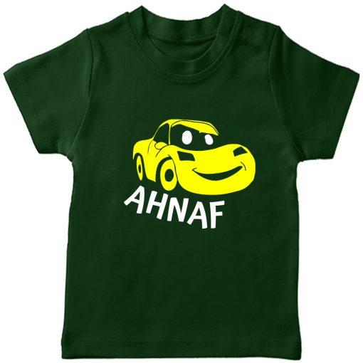Car-Customized-Name-Tee-Green