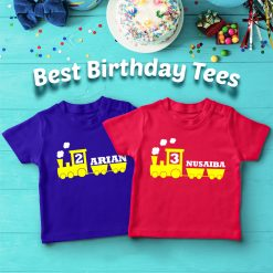 Customized-Name-With-Train-Birthday-T-Shirt-Content