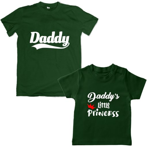 Daddy-&-Daddy's-Little-Princess-Combo-T-Shirt-Green