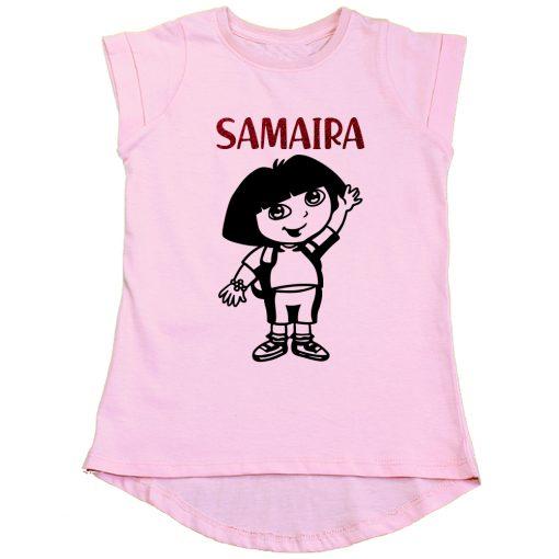 Dora-Cartoon-Girls-T-Shirt-Pink