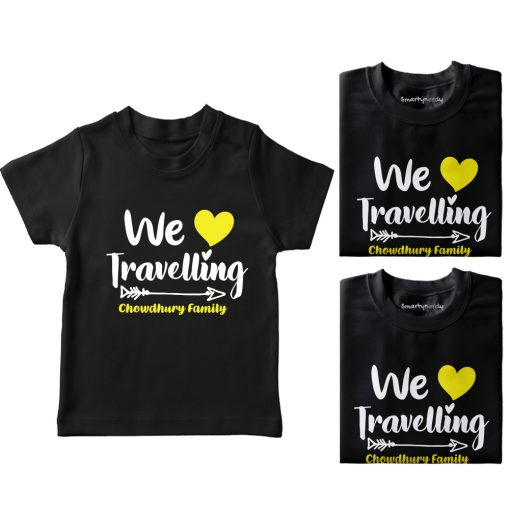 Family-Name-Customized-Travelling-T-Shirt-Black