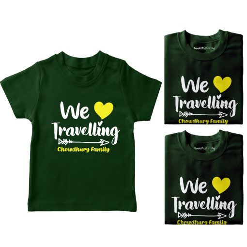 Family-Name-Customized-Travelling-T-Shirt-Green