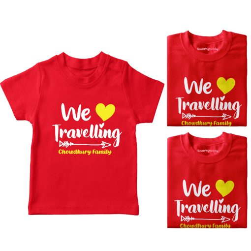 Family-Name-Customized-Travelling-T-Shirt-Red