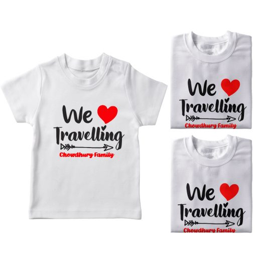 Family-Name-Customized-Travelling-T-Shirt-White