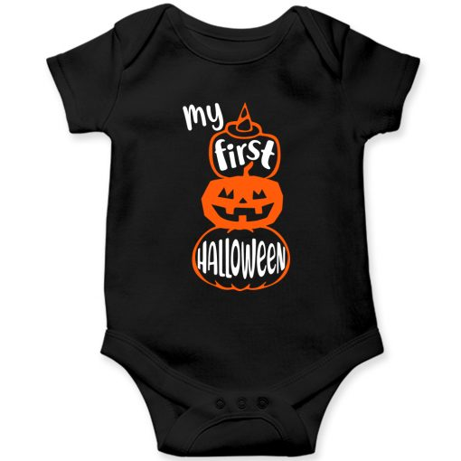 First-Halloween-Baby-Romper-Black