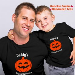 Happy-Halloween-For-Dad-Son-Combo-TShirt-Content