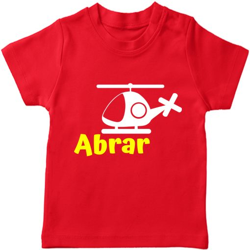 Helicopter-Customized-Name-Tee-Red