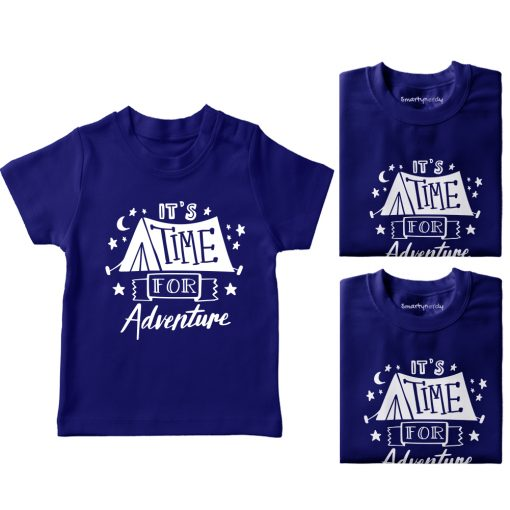 It's-Time-For-Adventure-Family-Vacation-T-Shirt-Blue