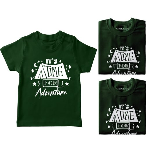 It's-Time-For-Adventure-Family-Vacation-T-Shirt-Green