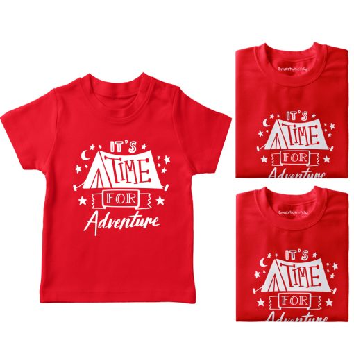 It's-Time-For-Adventure-Family-Vacation-T-Shirt-Red