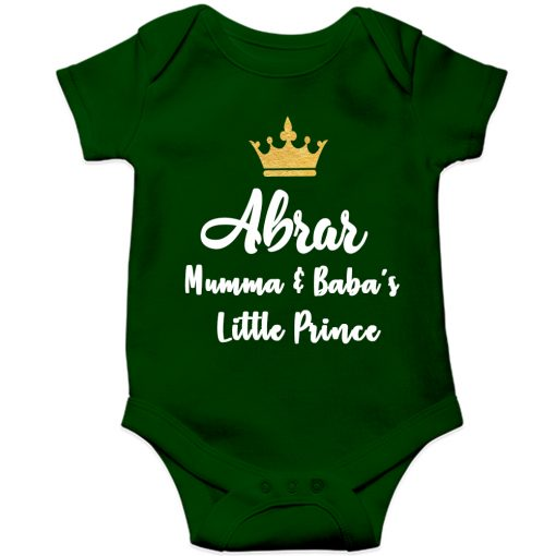 Mamma-&-Baba's-Little-Prince-Baby-Romper-Green