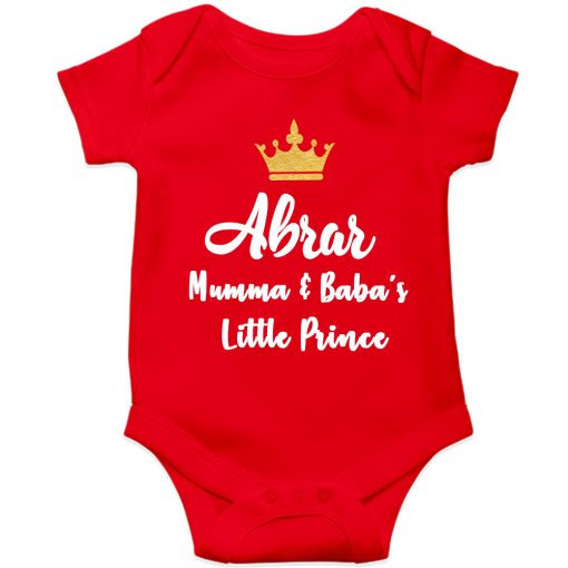 Mamma-&-Baba's-Little-Prince-Baby-Romper-Red