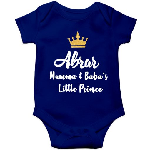 Mamma-&-Baba's-Little-Prince-Baby-Romper-Blue