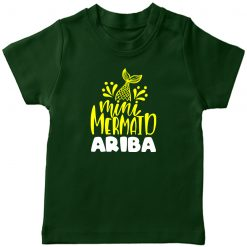 Mini-Mermaid-Customized-Name-T-Shirt-Green