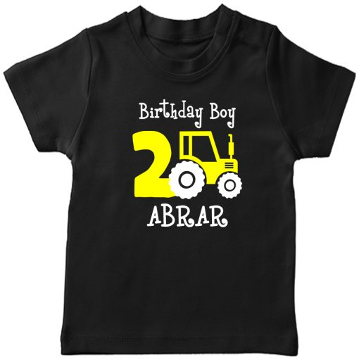 Mini-Trucktor-Customized-Birthday-T-Shirt-Black