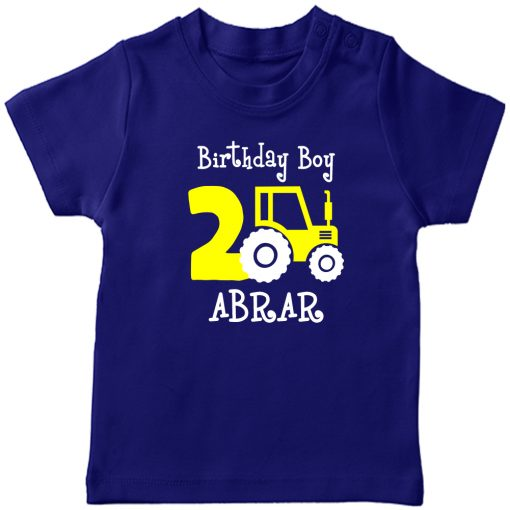 Mini-Trucktor-Customized-Birthday-T-Shirt-Blue