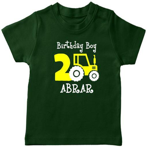 Mini-Trucktor-Customized-Birthday-T-Shirt-Green