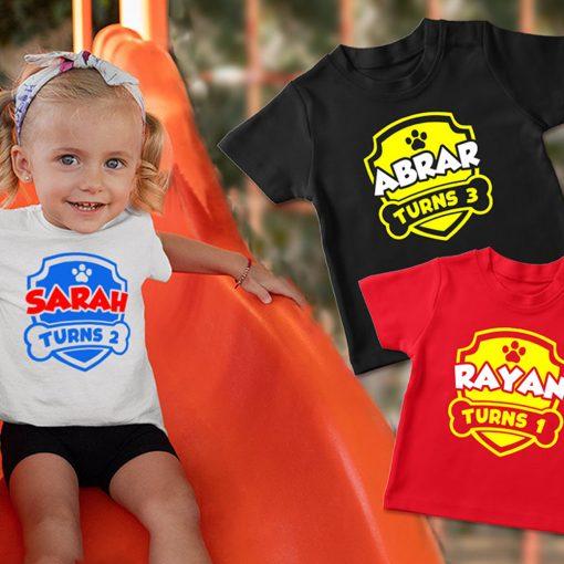 Paw-Birthday-Celebration-Customized-Name-T-Shirt-Content