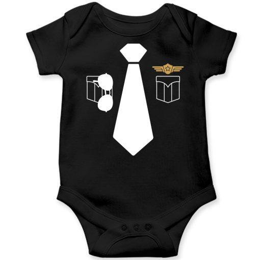 Police-Uniform-Baby-Romper-Black