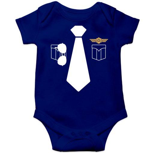 Police-Uniform-Baby-Romper-Blue