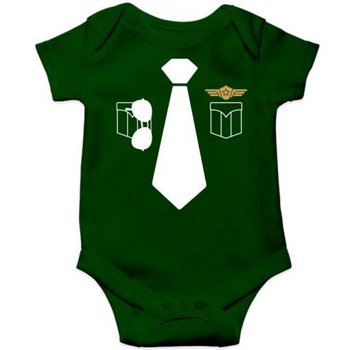 Police-Uniform-Baby-Romper-Green