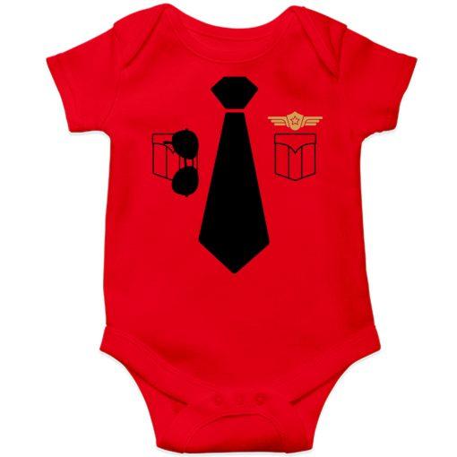 Police-Uniform-Baby-Romper-Red
