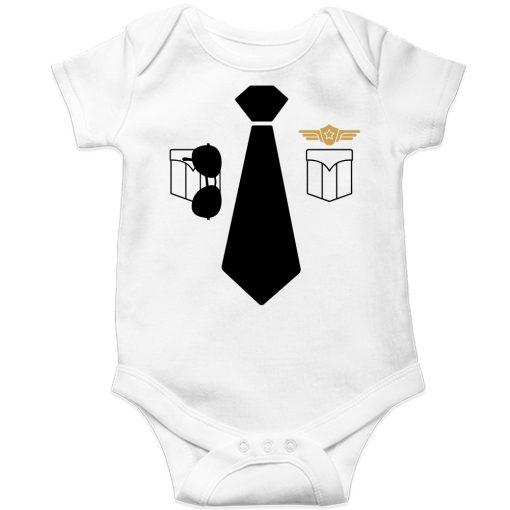 Police-Uniform-Baby-Romper-White