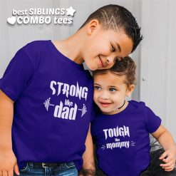 Strong-&-Tough-Like-Mom-Dad-T-Shirt-Content