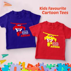 Super-Wings-Customized-Name-Cartoon-T-Shirt-Content