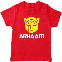 Transformer-Mask-Customized-Name-T-Shirt-Red