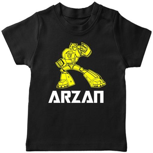 Transformers-Customized-Name-T-Shirt-Black