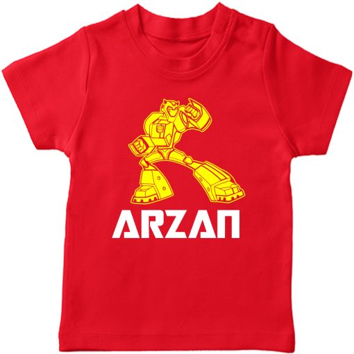 Transformers-Customized-Name-T-Shirt-Red