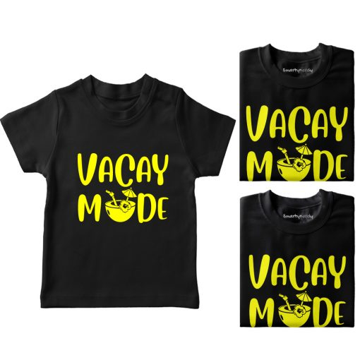 Vacay-Mode-Family-Vacation-Combo-T-Shirt-Black