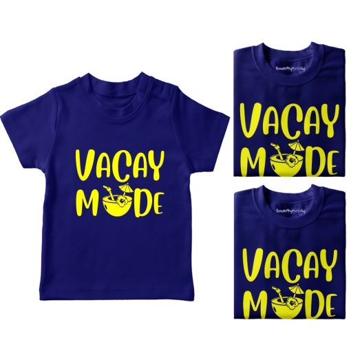 Vacay-Mode-Family-Vacation-Combo-T-Shirt-Blue