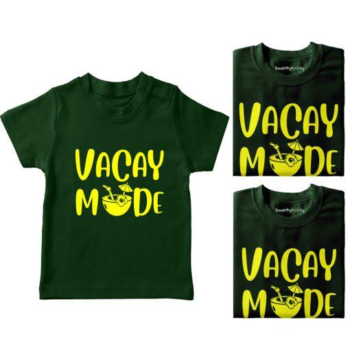 Vacay-Mode-Family-Vacation-Combo-T-Shirt-Green