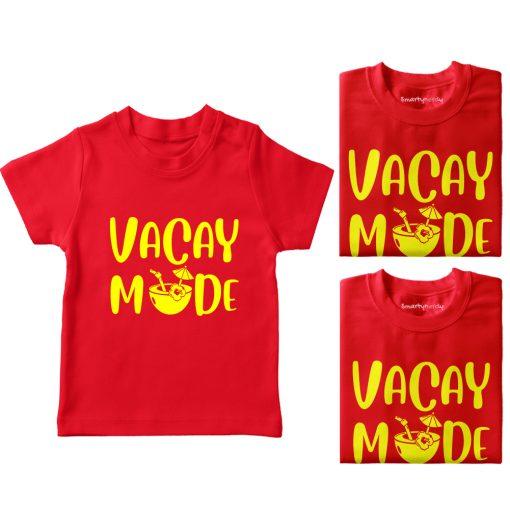 Vacay-Mode-Family-Vacation-Combo-T-Shirt-Red