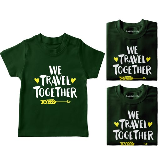 We-Travel-Together-Family-Vacation-T-Shirt-Green