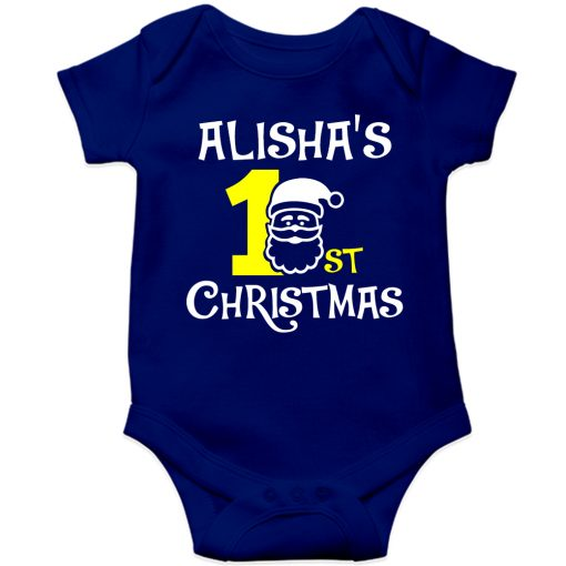 1st-Christmas-with-Santa-Baby-Romper-Blue