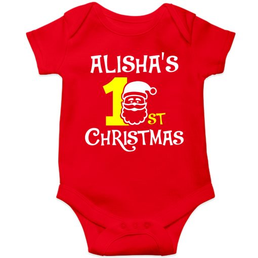 1st-Christmas-with-Santa-Baby-Romper-Red