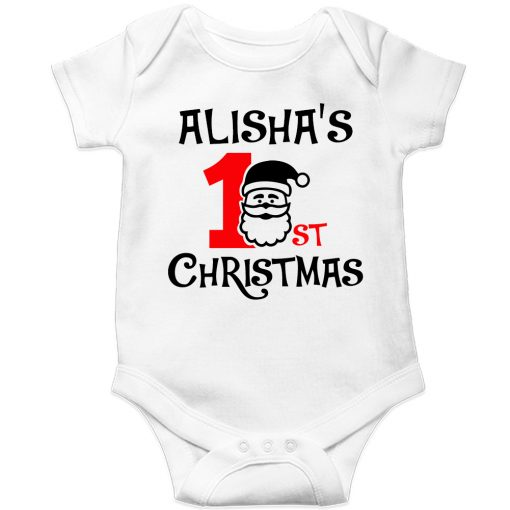 1st-Christmas-with-Santa-Baby-Romper-White